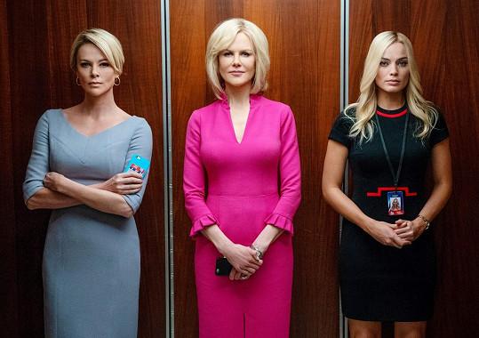 Ve filmu Bombshell s Nicole Kidman (uprostřed) a Margot Robbie (vpravo).