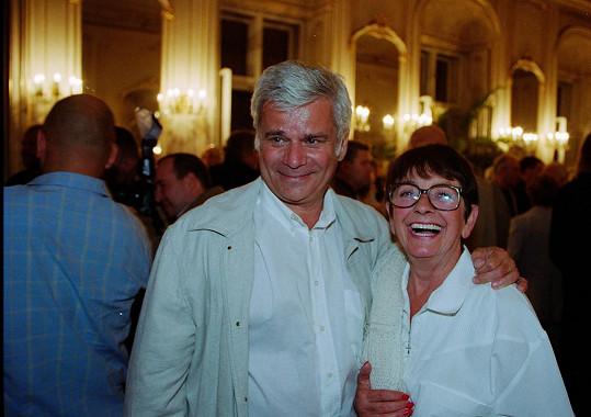 Petr Štěpánek na archivním snímku se svou druhou manželkou Vlastou Janečkovou, do které se zamiloval během natáčení Zlatovlásky. Tu Janečková režírovala.
