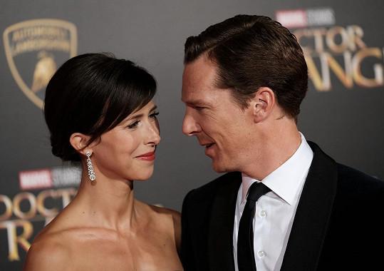 Benedict Cumberbatch a Sophie Hunter se těší na druhého potomka.