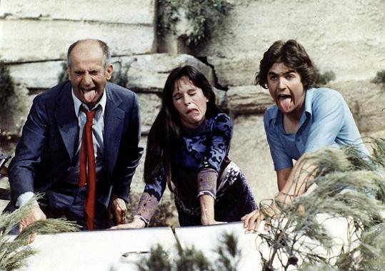 Louis de Funès, Geraldine Chaplin a Olivier de Funès v roce 1970