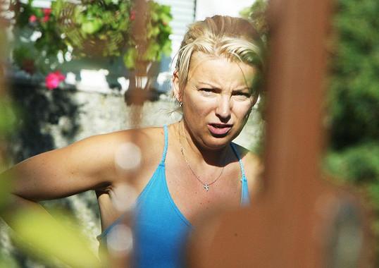 Eva Vejmělková v roce 2008, kdy jí to zrovna moc neslušelo.