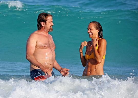 Gerard Butler s přítelkyní Morgan Brown