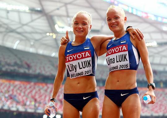 Liina a Lily Luik na loňském světovém šampionátu v atletice v Pekingu.