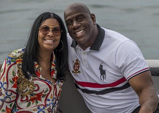 Rodiče EJ Magic Johnson s manželkou Earlithou Kelly