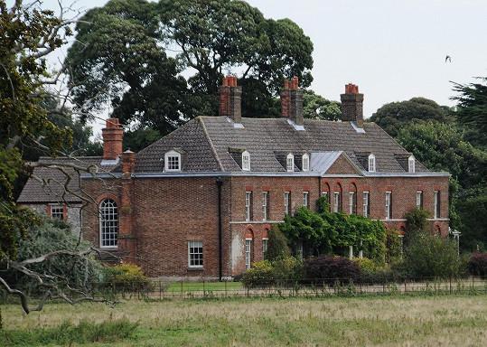 Sídlo Anmer Hall vévodkyně Kate a jejího chotě Williama