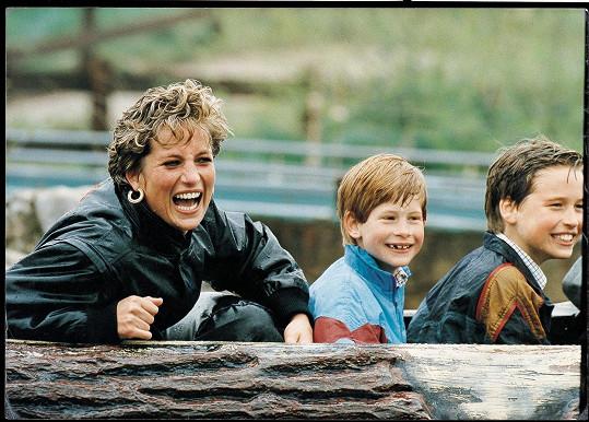 S princeznou Dianou a bratrem Harrym