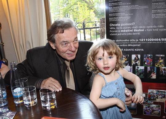 Karel Gott s dcerou Nellinkou