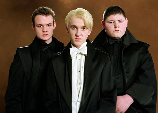 Josh Herdman, Tom Felton a Jamie Waylett ve filmu Harry Potter a Ohnivý pohár (2005)