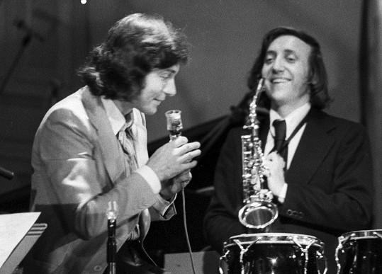 Karel Gott a Felix Slováček v roce 1974