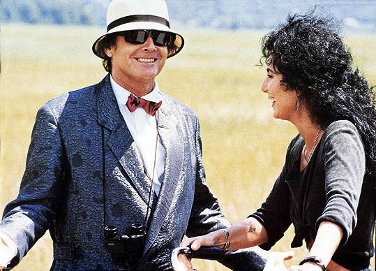Ženy mu vždy padaly k nohám. Na snímku s Cher ve filmu Čarodějky z Eastwicku (1987)