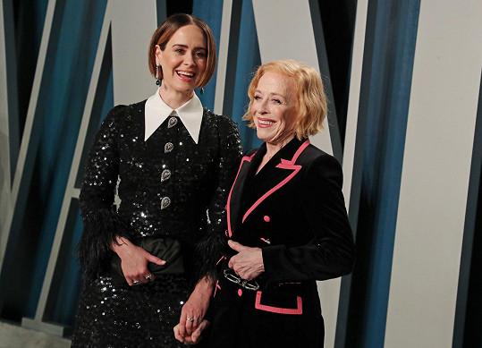 Sarah Paulson s partnerkou Holland Taylor