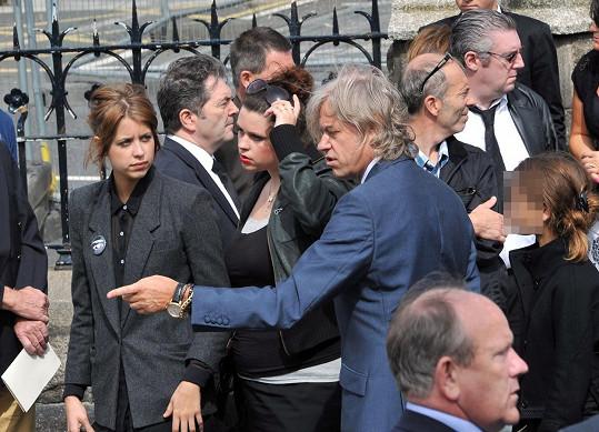 Bob Geldof s Fifi (uprostřed) a zesnulou Peaches (vlevo)