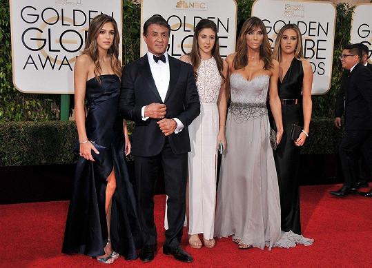 Herec Stallone a jeho krásné ženy