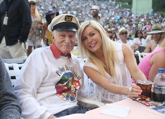 Crystal s o 60 let starším manželem Hughem Hefnerem