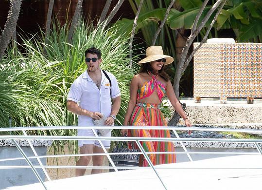 S manželem Nickem Jonasem