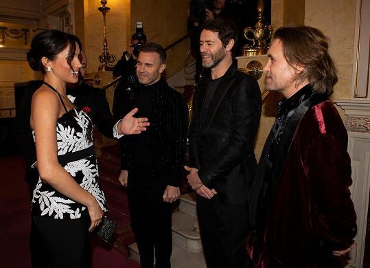 Meghan se pozdravila se členy skupiny Take That.