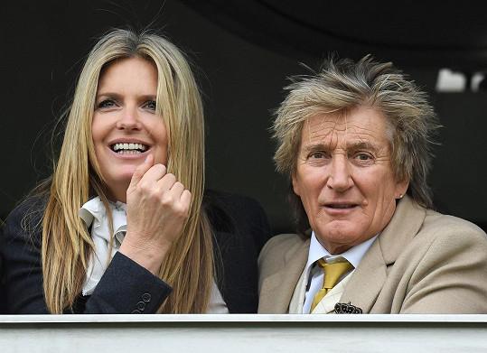 Rod Stewart s manželkou Penny Lancaster