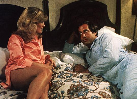 Beverly D'Angelo se svým filmovým manželem Chevym Chasem. Pár si zahráli hned v několika filmech.