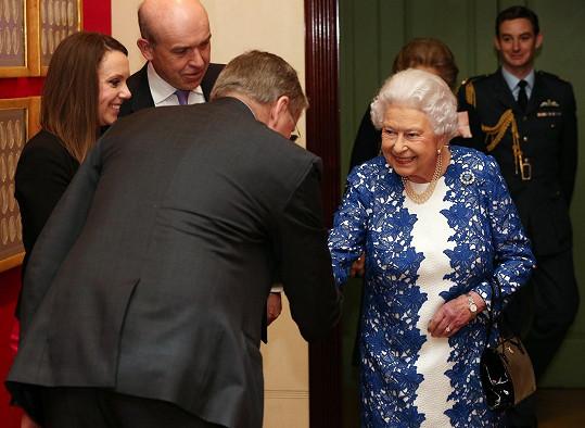 Alžběta II. uspořádala recepci v Buckinghamském paláci.