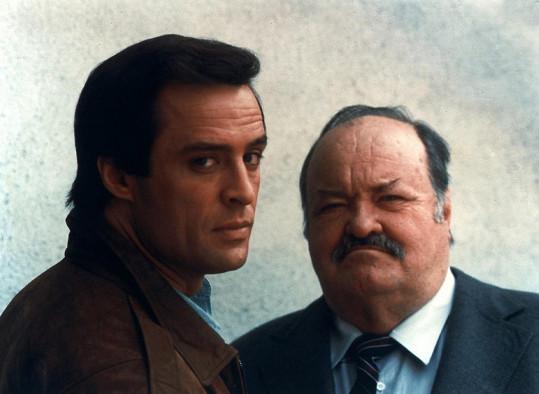 Joe Penny a William Conrad v seriálu Jake a Tlusťoch