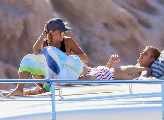 Justin a Sofia na dovolené v Mexiku