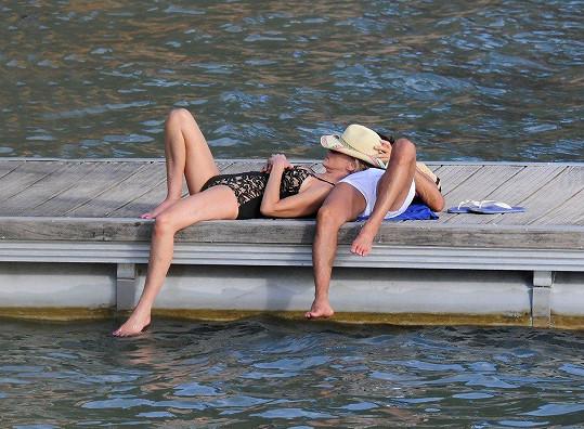 Sharon Stone a Angelo Boffa na dovolené ve Španělsku