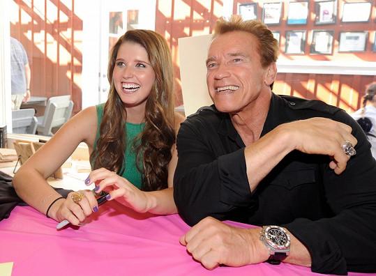 Arnold Schwarzenegger se stal poprvé dědečkem, na archivním snímku s Katherine.