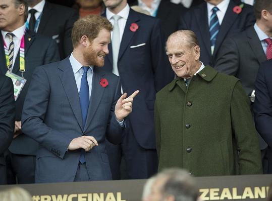 Princ Harry zavzpomínal na svého dědečka, prince Philipa.