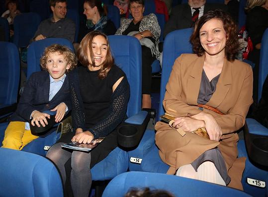 Macháčkova rodina nemohla na premiéře filmu chybět.