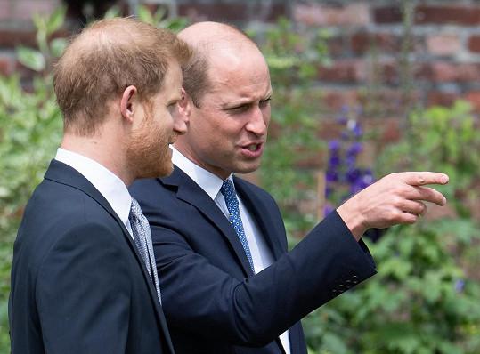 Na velké spory to mezi nimi na události u příležitosti nedožitých šedesátin princezny Diany nevypadalo.