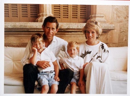 V roce 1987 s oběma chlapci, Williamem i Harrym