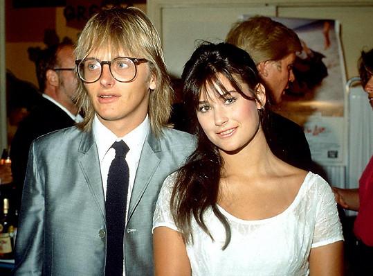 Demi Moore s prvním manželem Freddym. Byli spolu v letech 1980 - 1985.