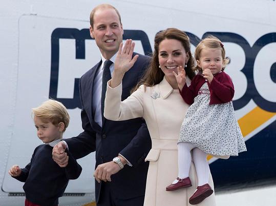Královská rodinka na letošní návštěvě Kanady