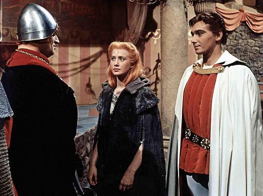 Martin Růžek, Marie Kyselková a Josef Zíma v pohádce Princezna se zlatou hvězdou (1959)