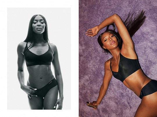 Naomi Campbell boduje v nové kampani na spodní prádlo.