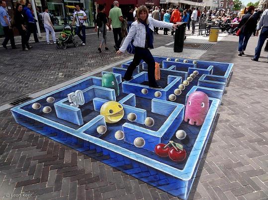 Nizozemský umělec Leon Keer takto zdobí ulice Utrechtu.