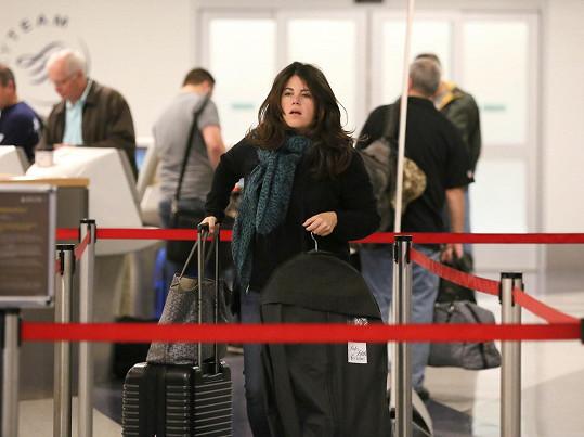 Lewinsky na letišti v Los Angeles