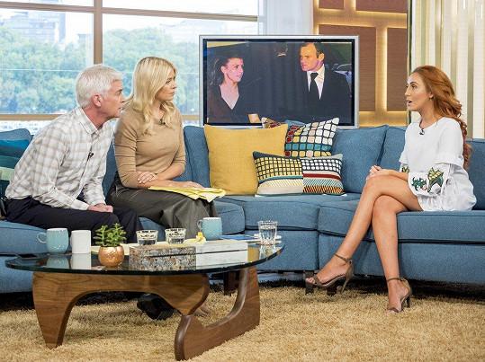 Laura Simpson v televizi promluvila o románku s Waynem Rooneym.