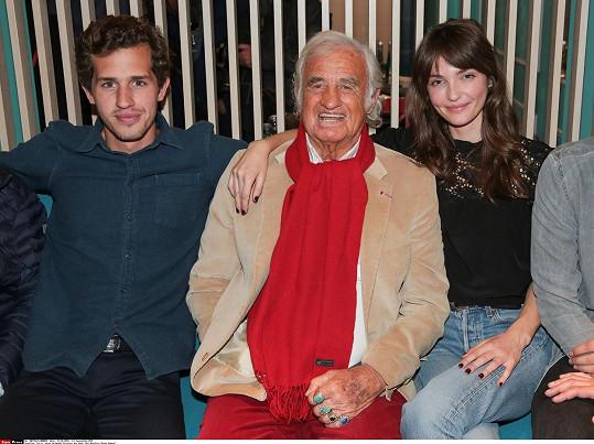 Vlevo vnuk Victor (od syna Paula) a vpravo vnučka Anabelle (od dcery Florence).