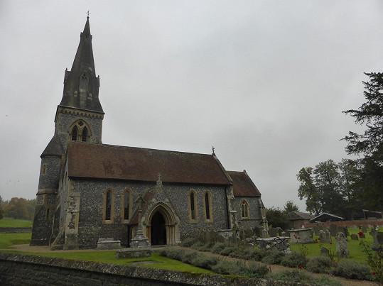 Kostel v Englefieldu, kde by měl proběhnout obřad.