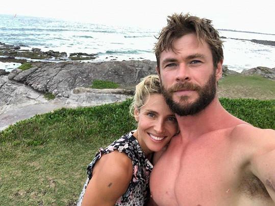 S manželem Chrisem Hemsworthem