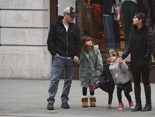 Matt Damon se svou rodinkou