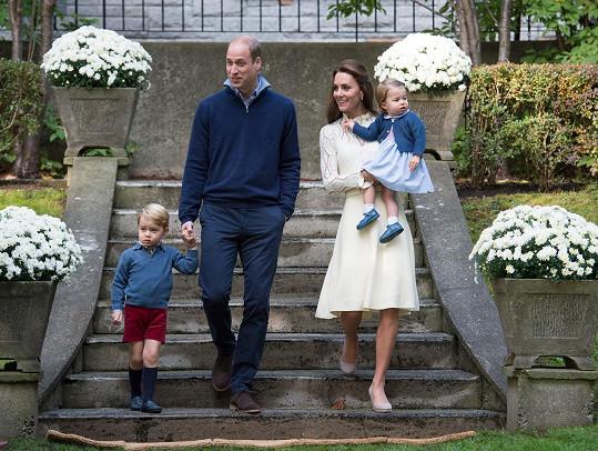 Rodina Kate a Williama v kanadské Victorii