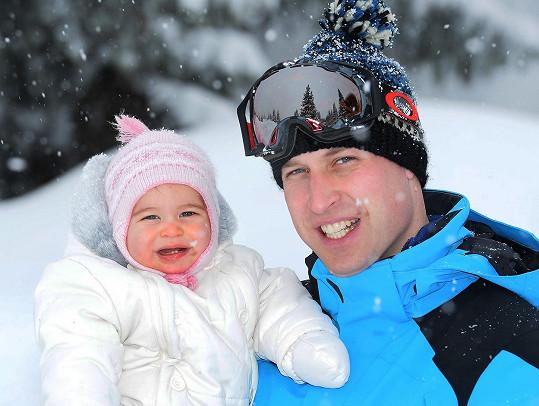 William s dcerkou Charlotte, která už má dva zoubky.