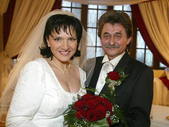 Šárka Rezková s muzikantem Jiřím Brabcem