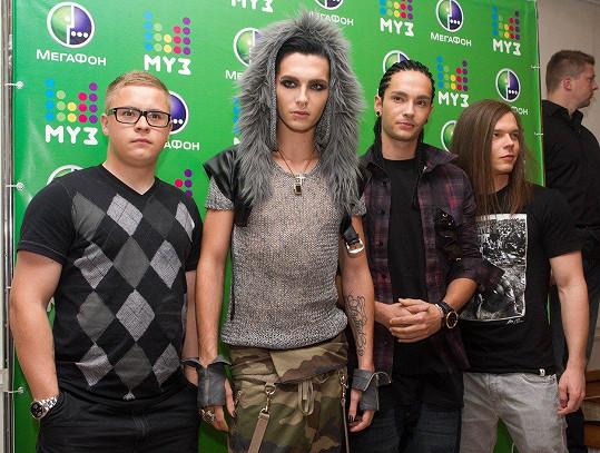 Bill Kaulitz, Tom Kaulitz, Gustav Schäfer a Georg Listing aka Tokio Hotel