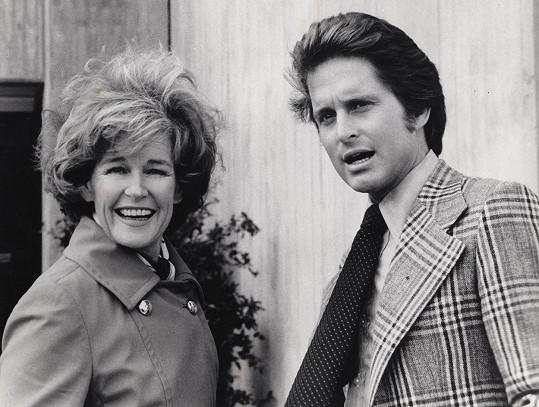 Diana Douglas se synem Michaelem