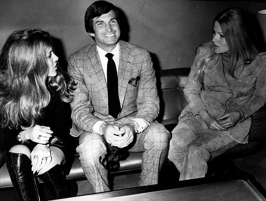 Se zahraničními herci Lanou Collins a Georgem Hamiltonem v roce 1969