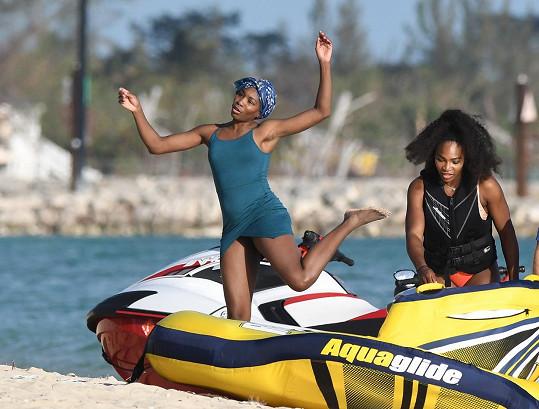 Rozverná byla i sestra Venus Williams.