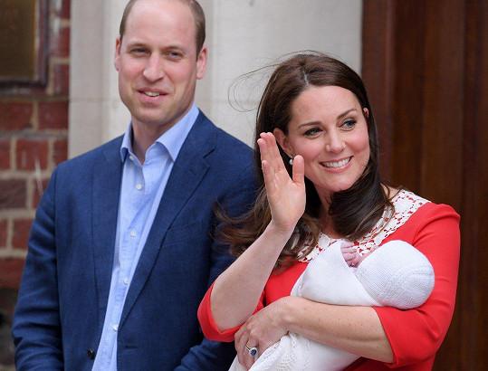 Kate a William se v dubnu dočkali třetího potomka.